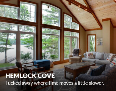Hemlock Cove. Tucked away where time moves a little slower.
