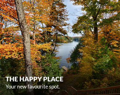 The Happy Place on Little Lake Joseph. Your new favourite spot.