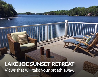 muskokacottagesbymarlene_Lake Joe sunset retreat
